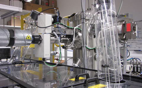 Figure 3(a) - Multi-beam PLD chamber
